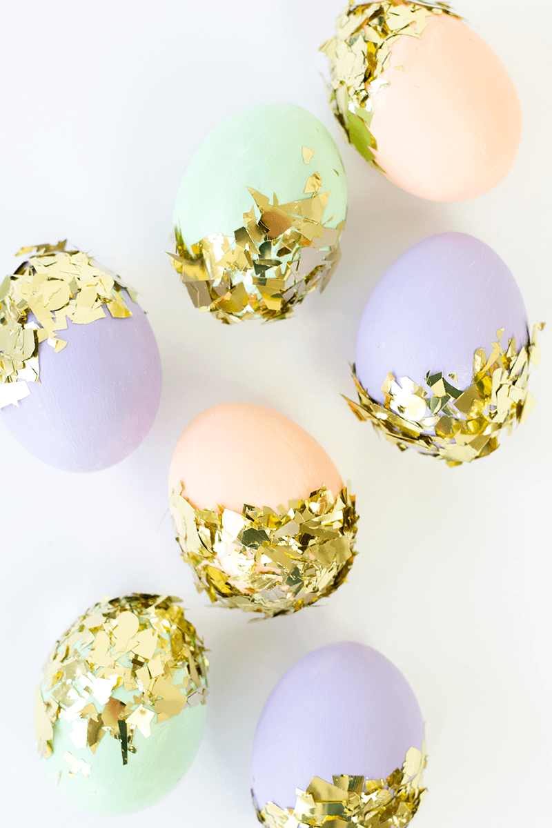 Confetti Dipped Easter Eggs
