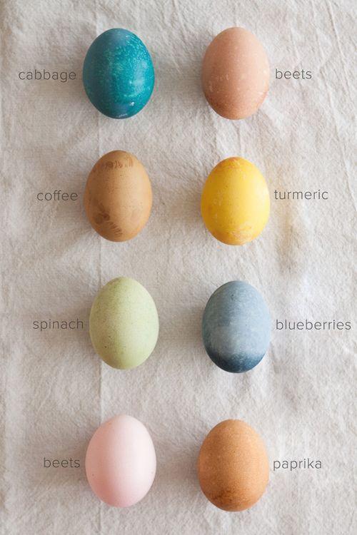 homemade easter egg dye