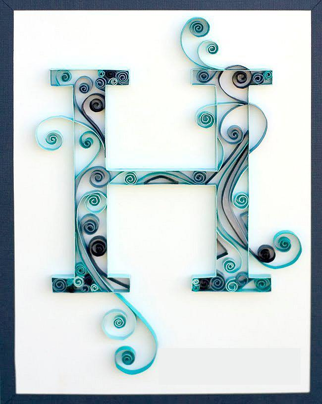 Quilled Monogram Wall Art