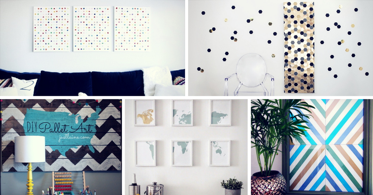 19 simple diy wall art ideas for your home homelovr