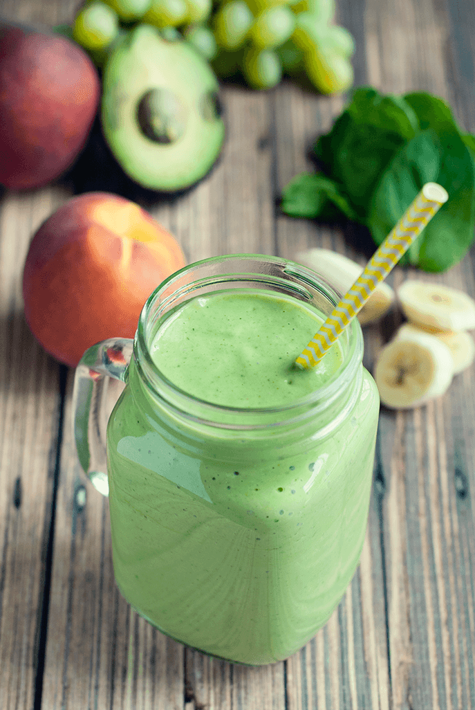 Banana Peach Green Smoothie