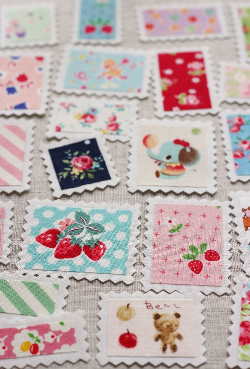 Vintage fabric stamps