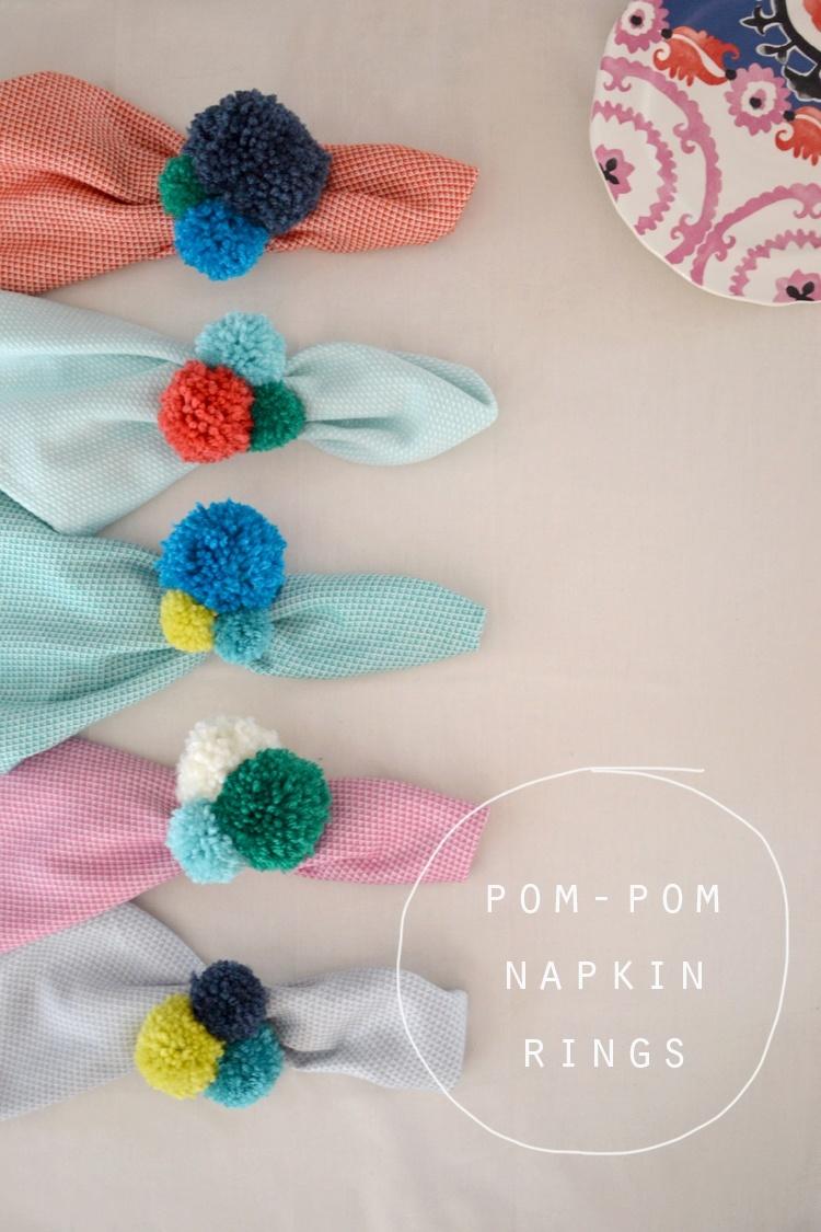 Pompom Napkin Rings