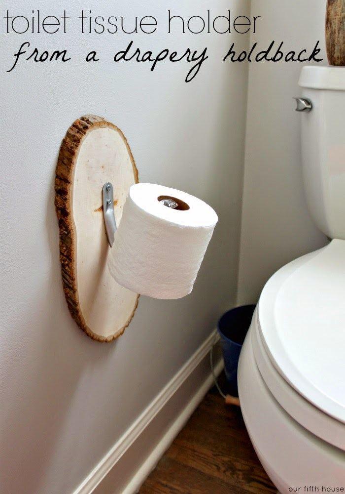 Drapery Holdback Toilet Paper Holder