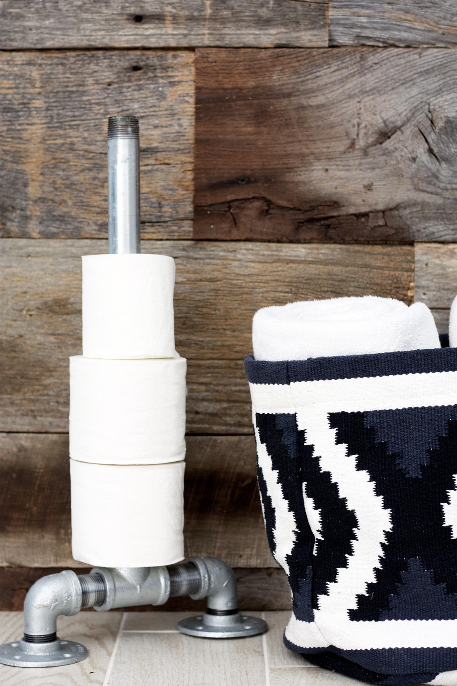 Industrial DIY Toilet Paper Holder
