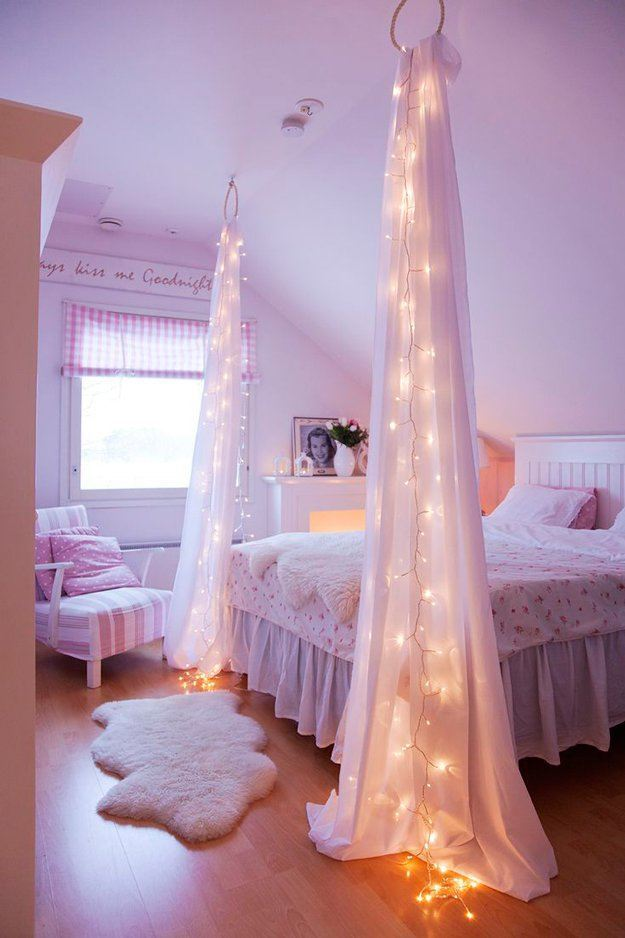 Starry Night String Light Decor For Your Bed