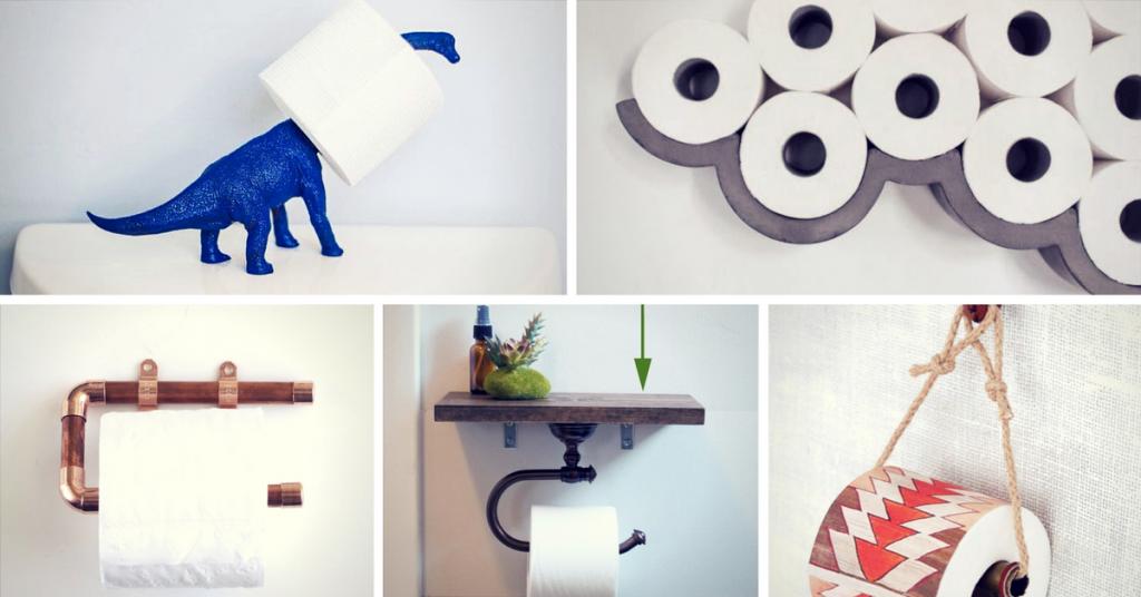 Totally Unusual DIY Toilet Paper Holders
