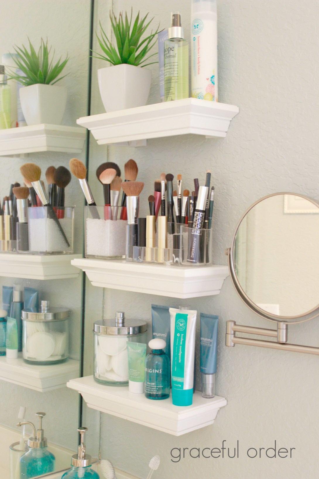 Mini Bathroom Shelves For Organizing