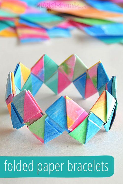 Folded Paper Bracelets