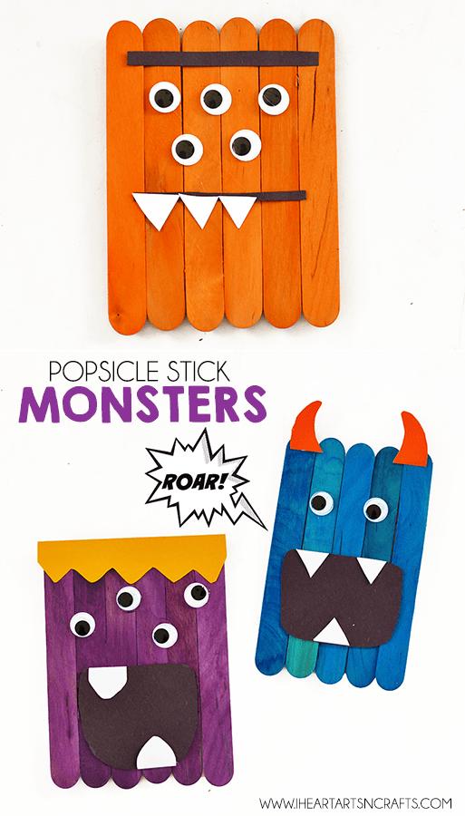Popsicle Sticks Monster