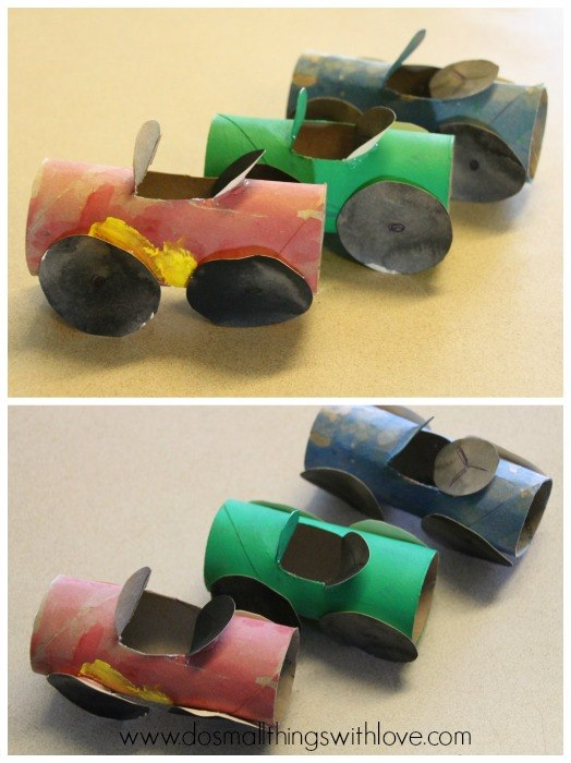 15 toilet paper roll crafts for kids homelovr for How to make a paper car that rolls