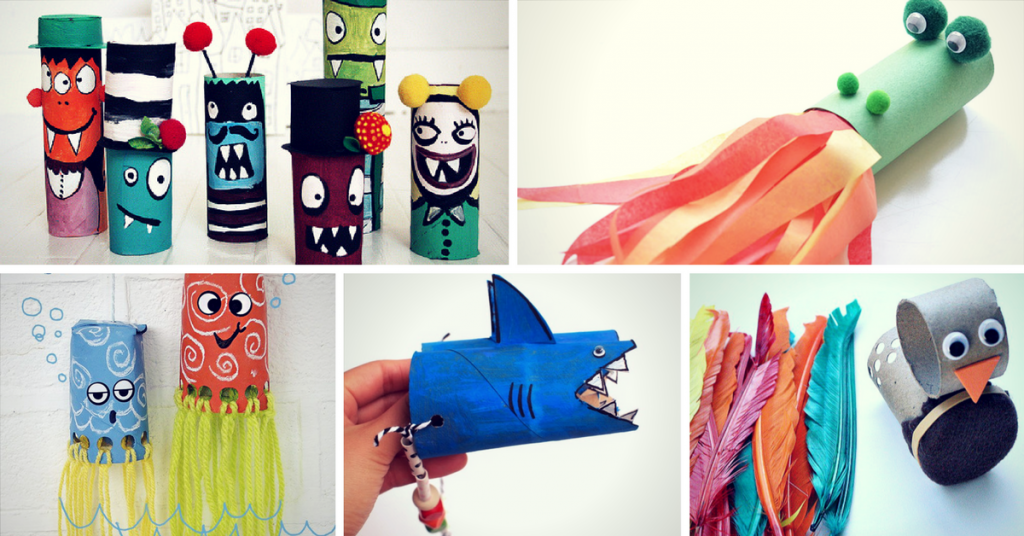 15 toilet paper roll crafts for kids homelovr for Toilet roll art for kids