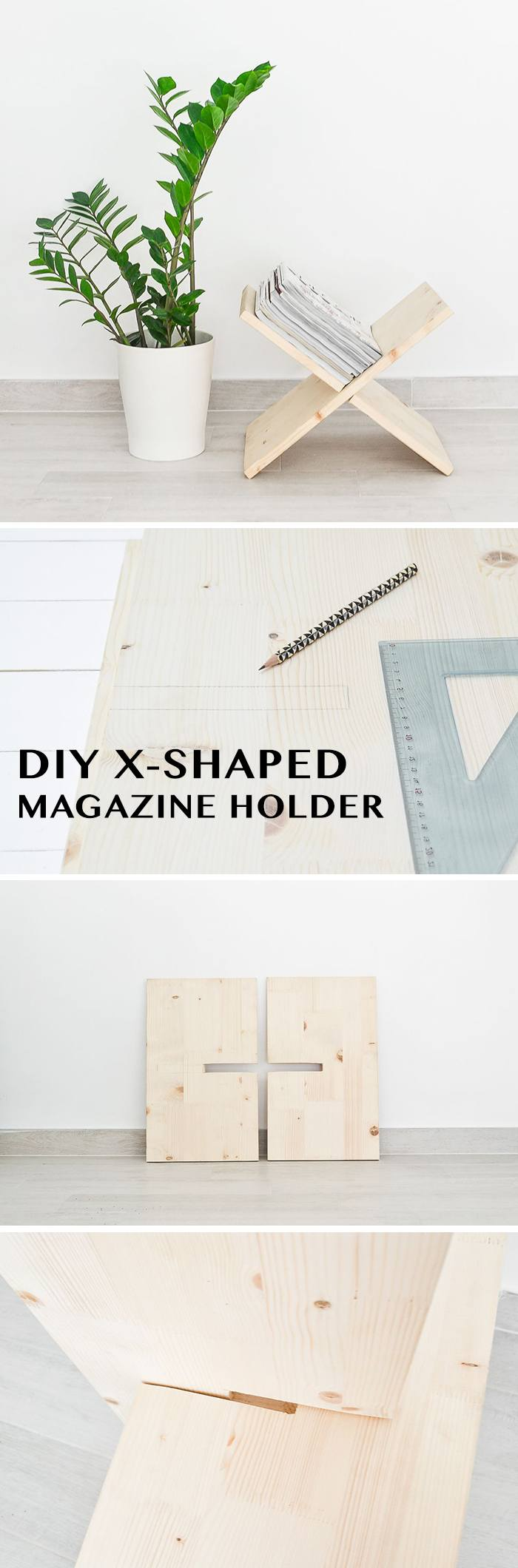 DIY X Shaped Magazine Holder