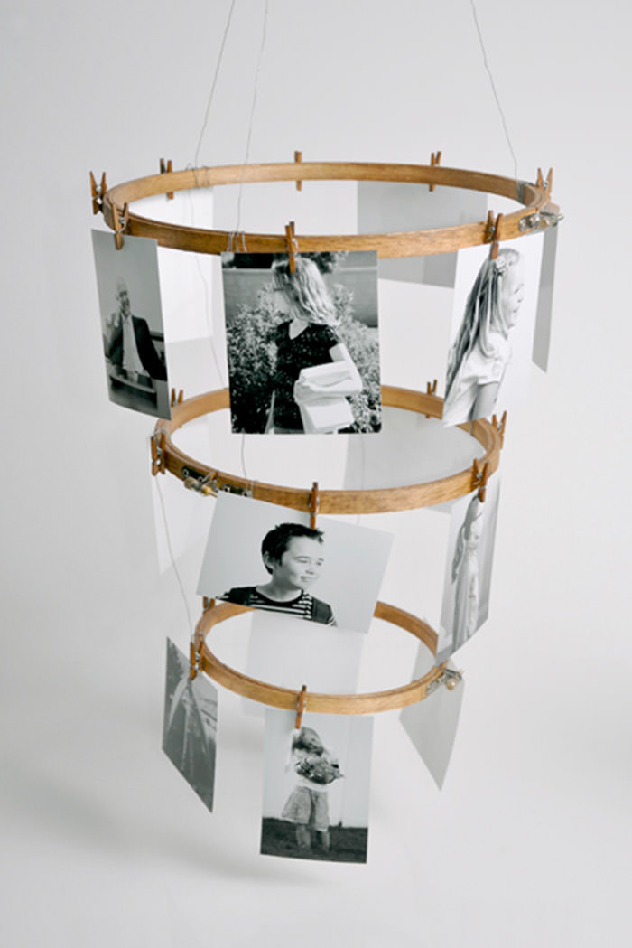 Embroidery Hoop Photo Display