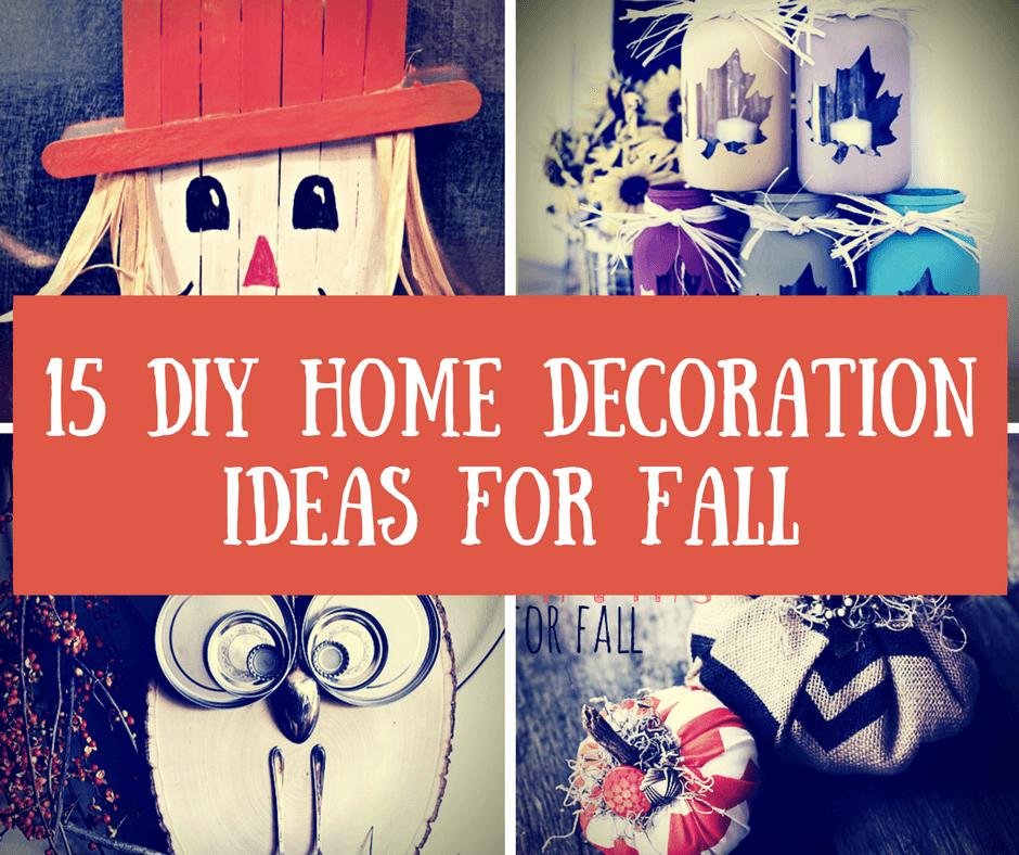 fall diy easy crafts decoration homelovr