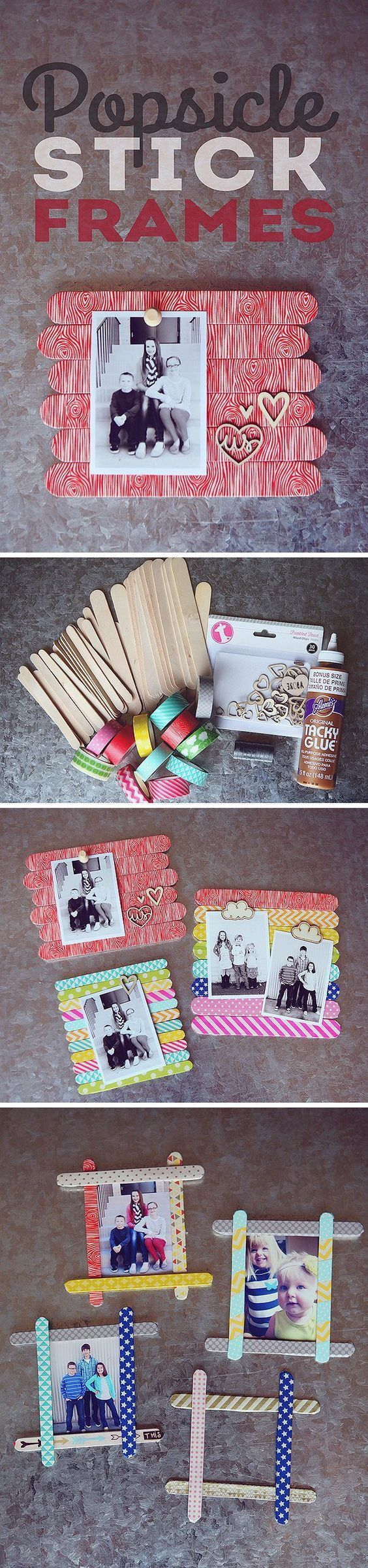 DIY Popsicle Stick Frames