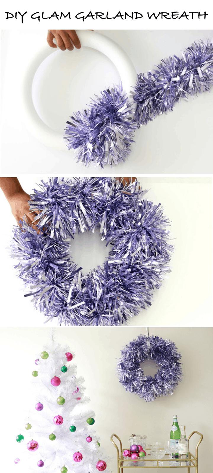 DIY- Glam Garland Wreath