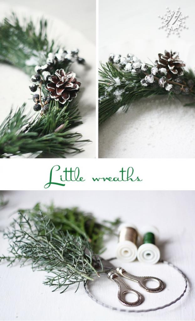 DIY Little Christmas Wreaths