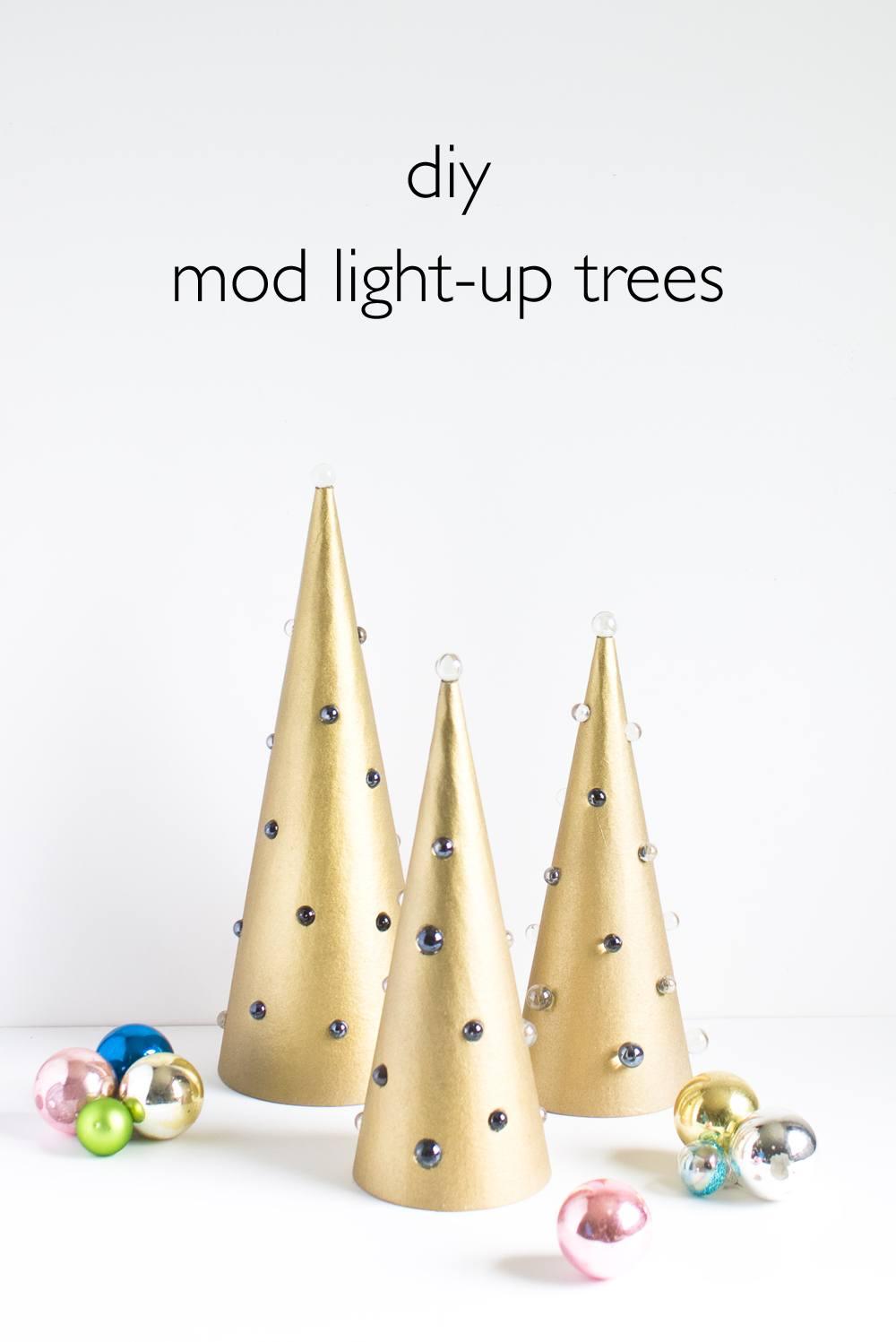 DIY Mod Light Up Trees