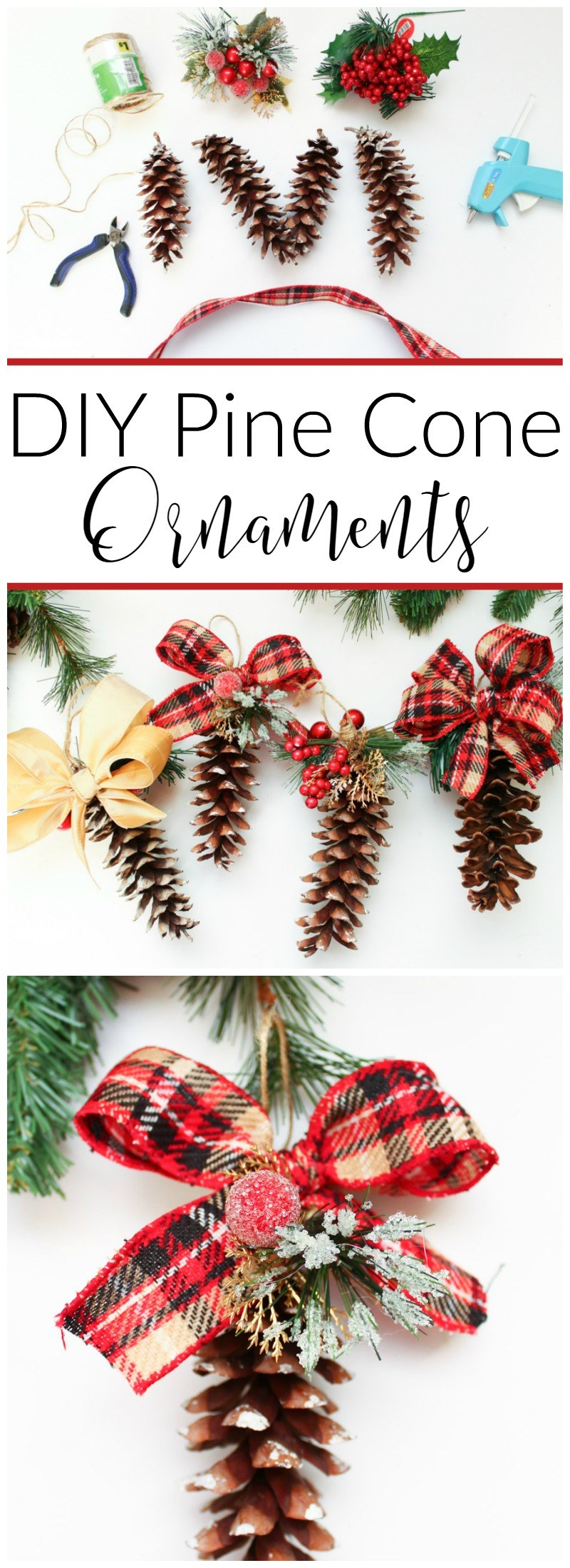 DIY Pine Cone Ornaments