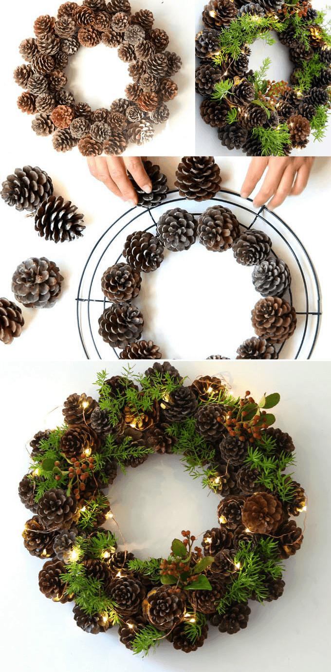 Easy Diy Christmas Wreath Ideas Learn How To Make A Christmas Wreath Homelovr
