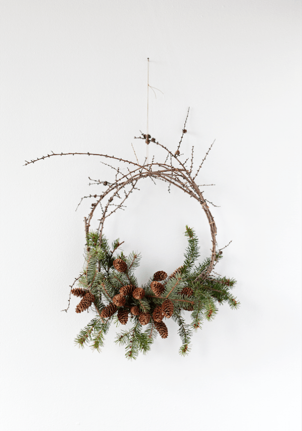 how to make an olive wreath