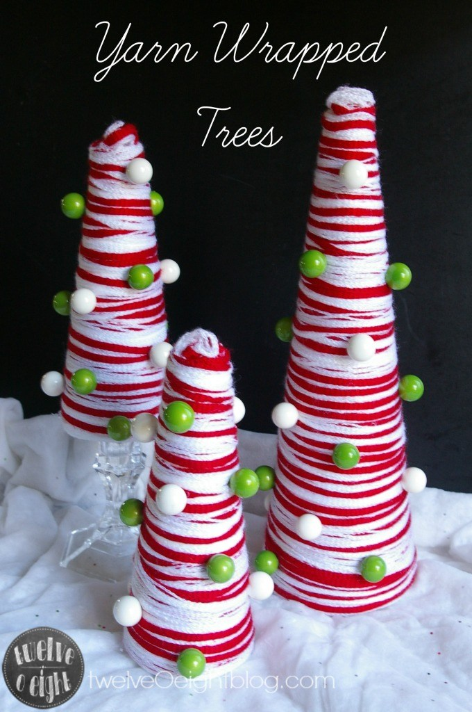 Yarn Wrapped Trees