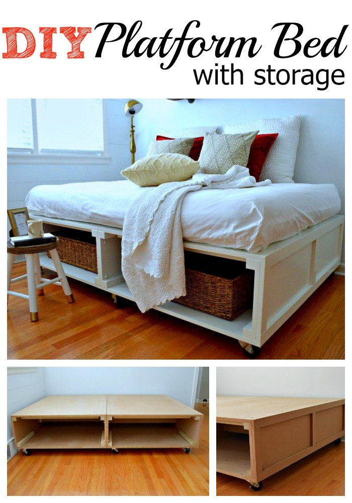 25 easy diy bed frame projects to upgrade your bedroom for Simple bed diy