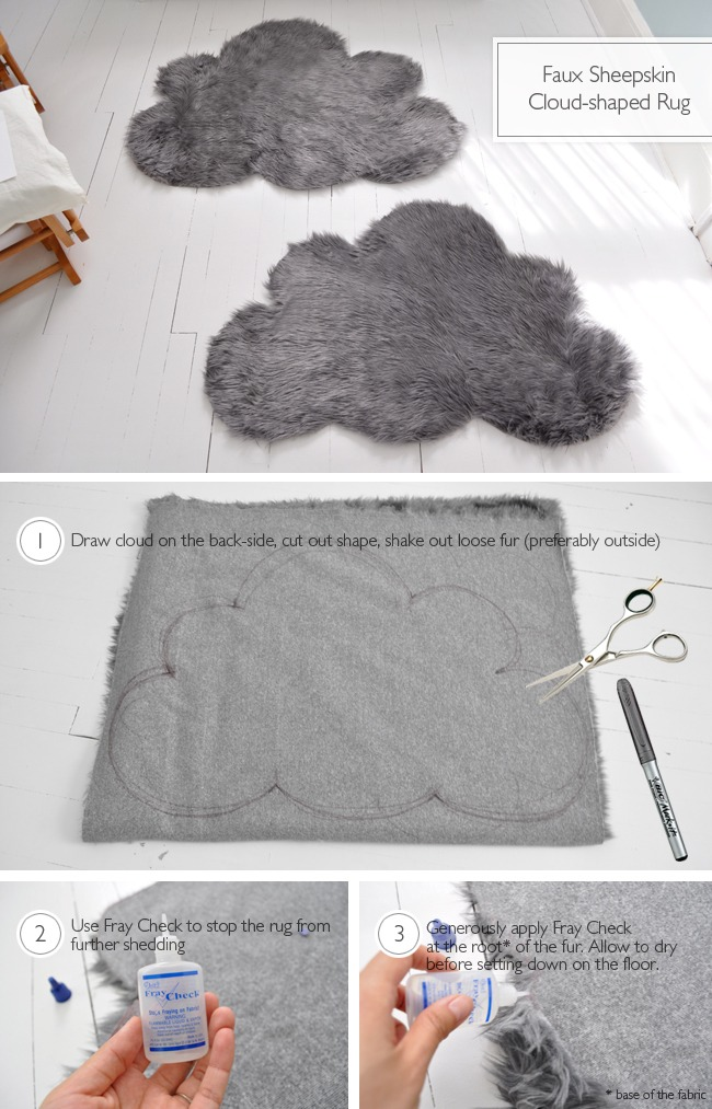 Faux Sheepskin Cloud Rugs