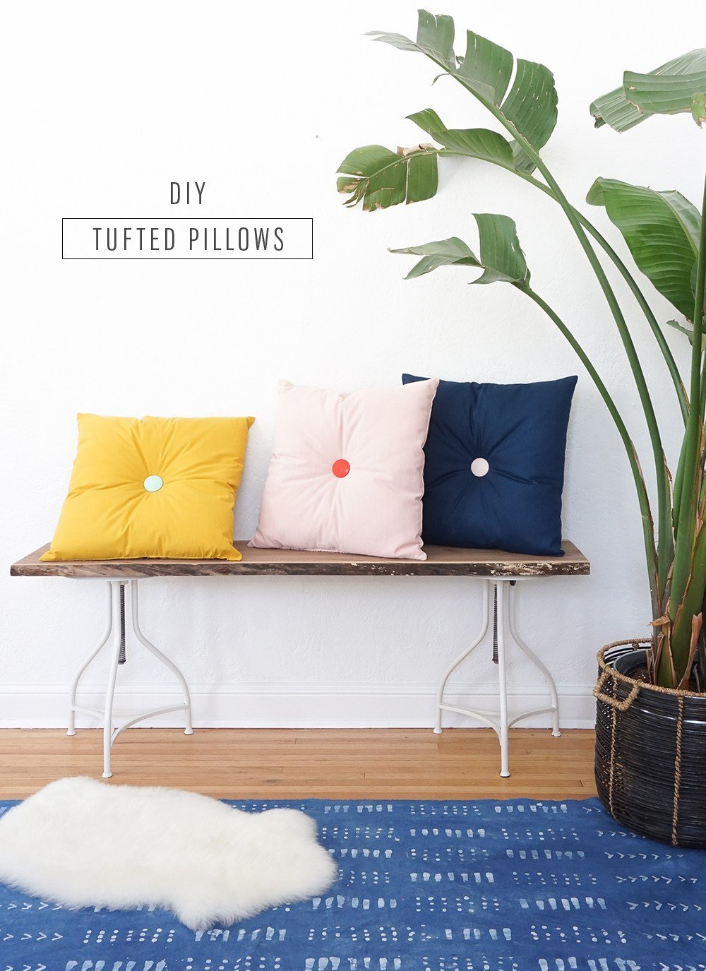 Colorful DIY Tufted Pillows