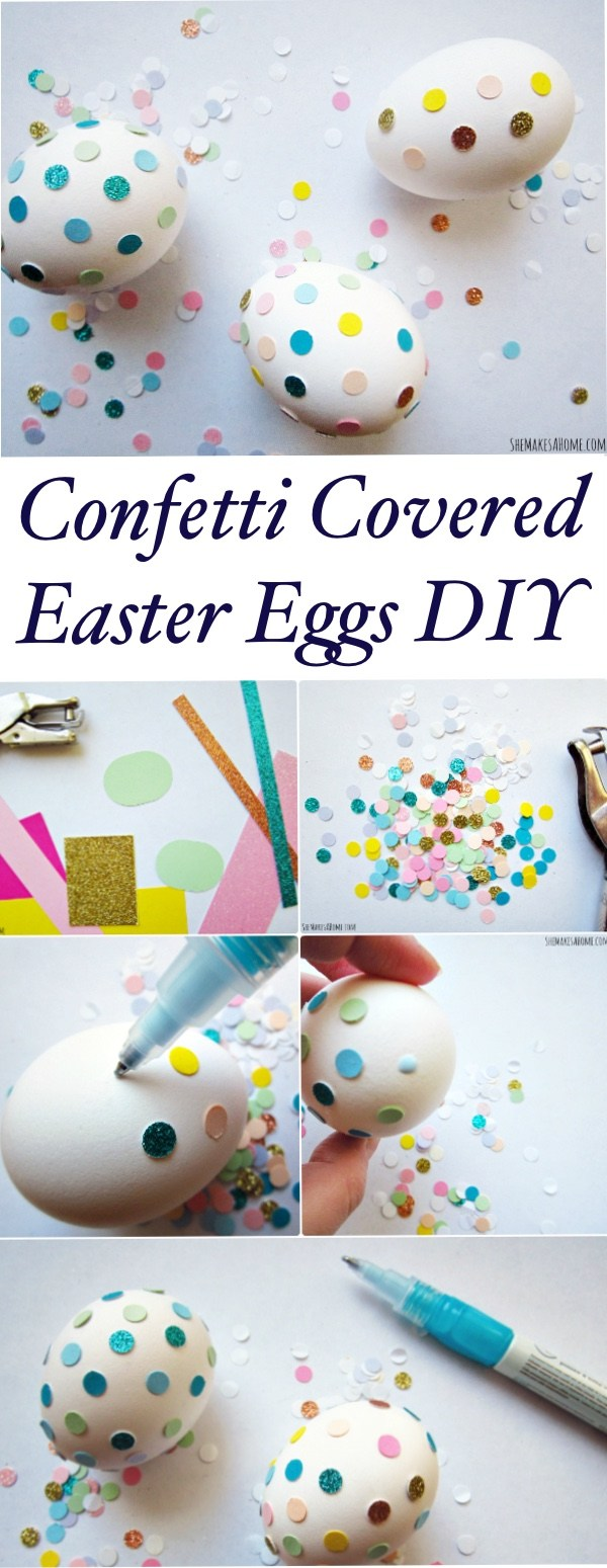 Confetti Covered Easter Eggs DIY