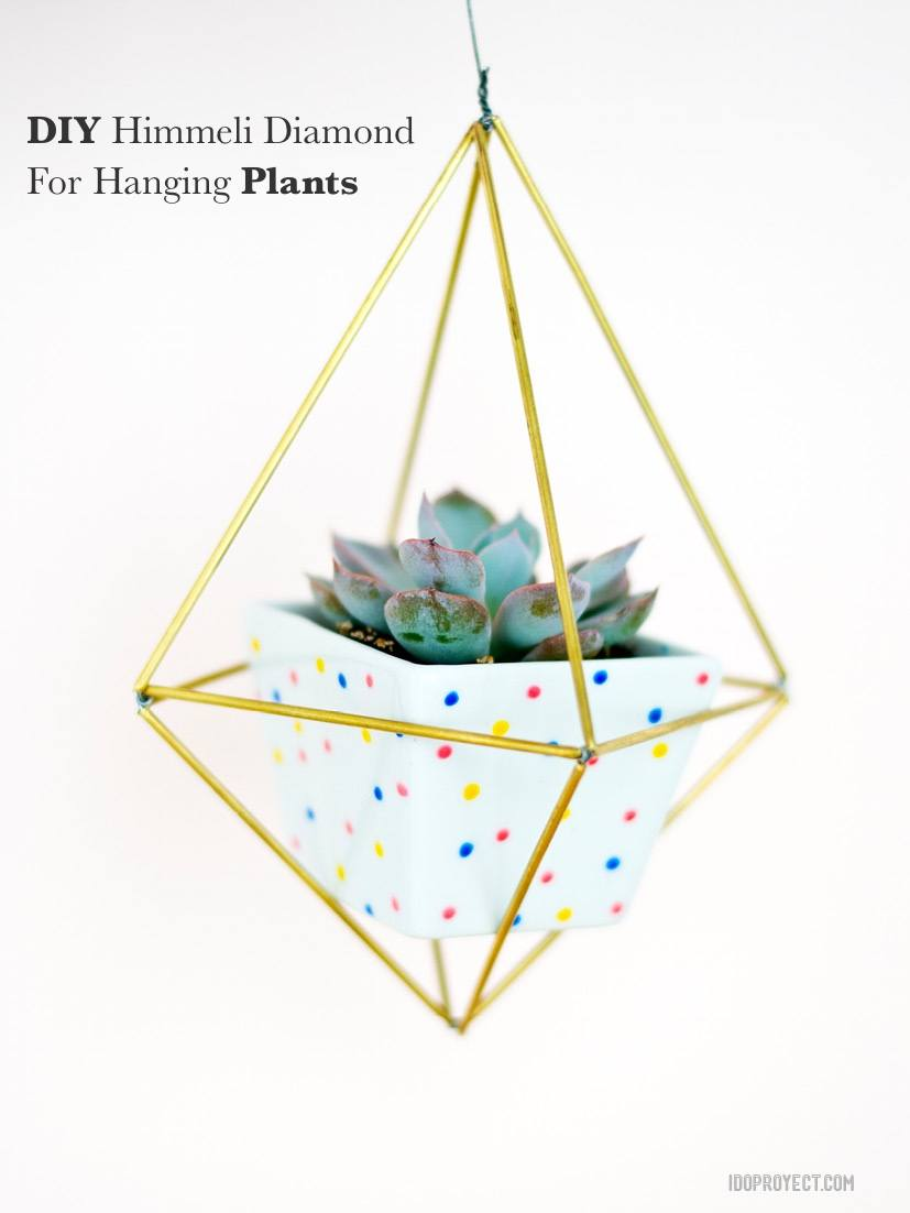 DIY Himmeli Diamond For Hanging Plants