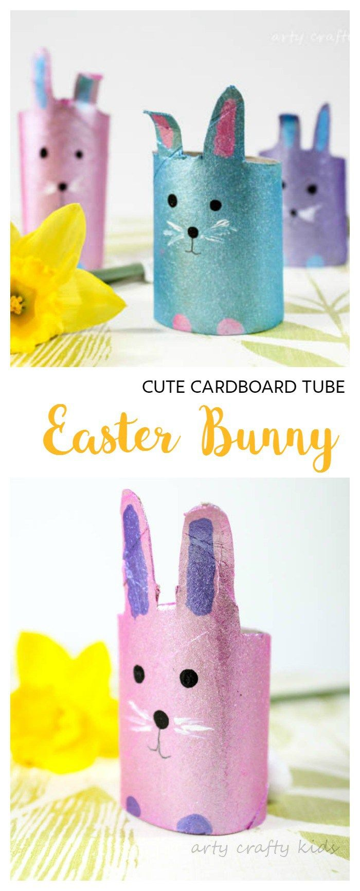 21 fun and creative easter crafts for kids homelovr for Where to buy cardboard tubes for craft