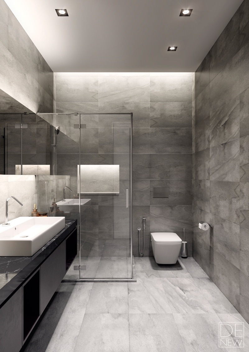 Modern Grey Bathroom Design