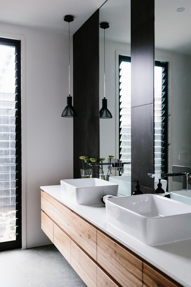 Modern Bathroom with Black Accents
