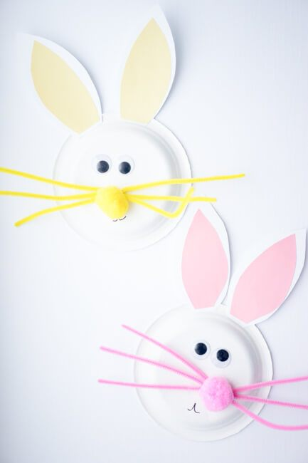 Paper Plate Easter Bunny Craft  sc 1 st  Homelovr & 21 Fun and Creative Easter Crafts For Kids - Homelovr