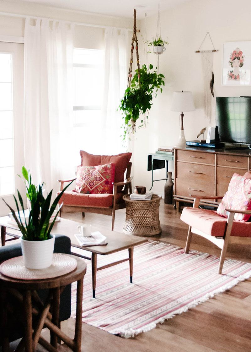 Decorate with Potted Plants and Hanging Plants