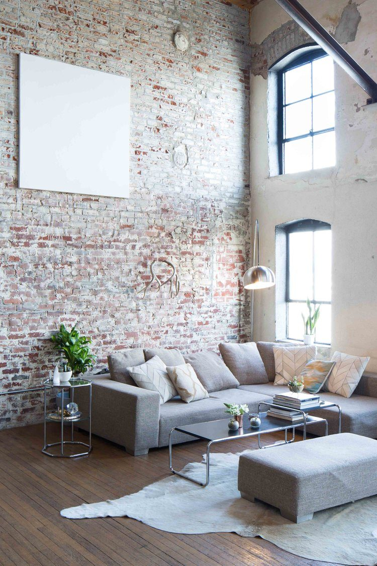 Merveilleux Brick Wall In Living Room