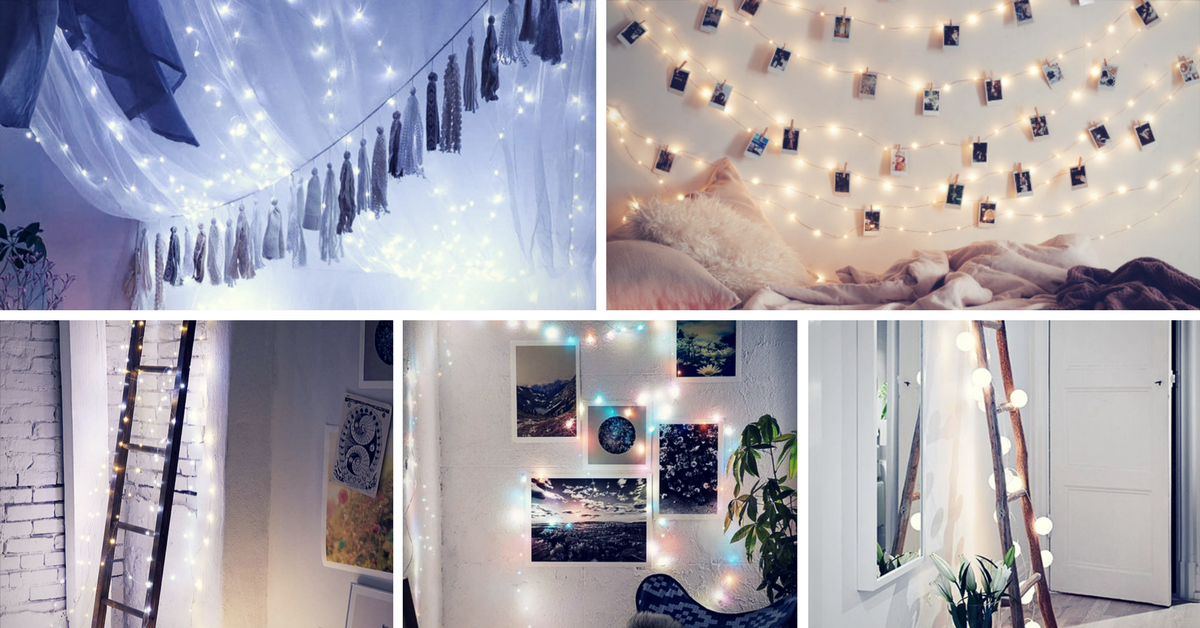 Brilliant Ways To Decorate With String Lights ALL Year Round