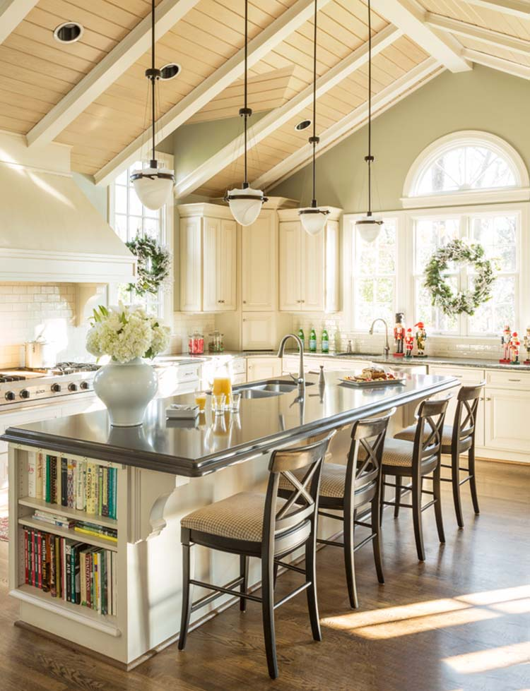 Country Kitchen with Large Island