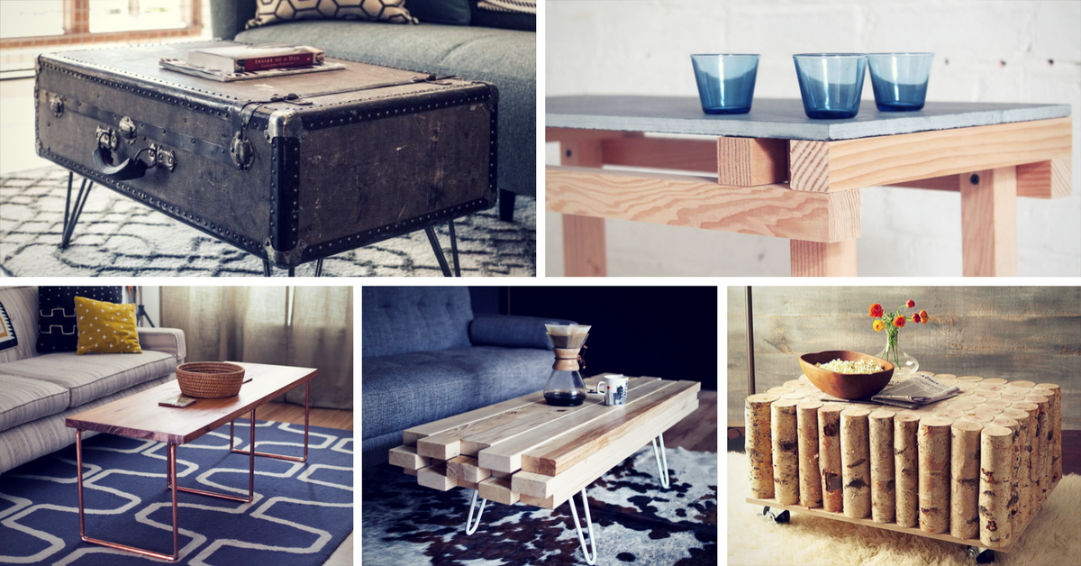 Creative DIY Coffee Table Ideas You Can Build Yourself