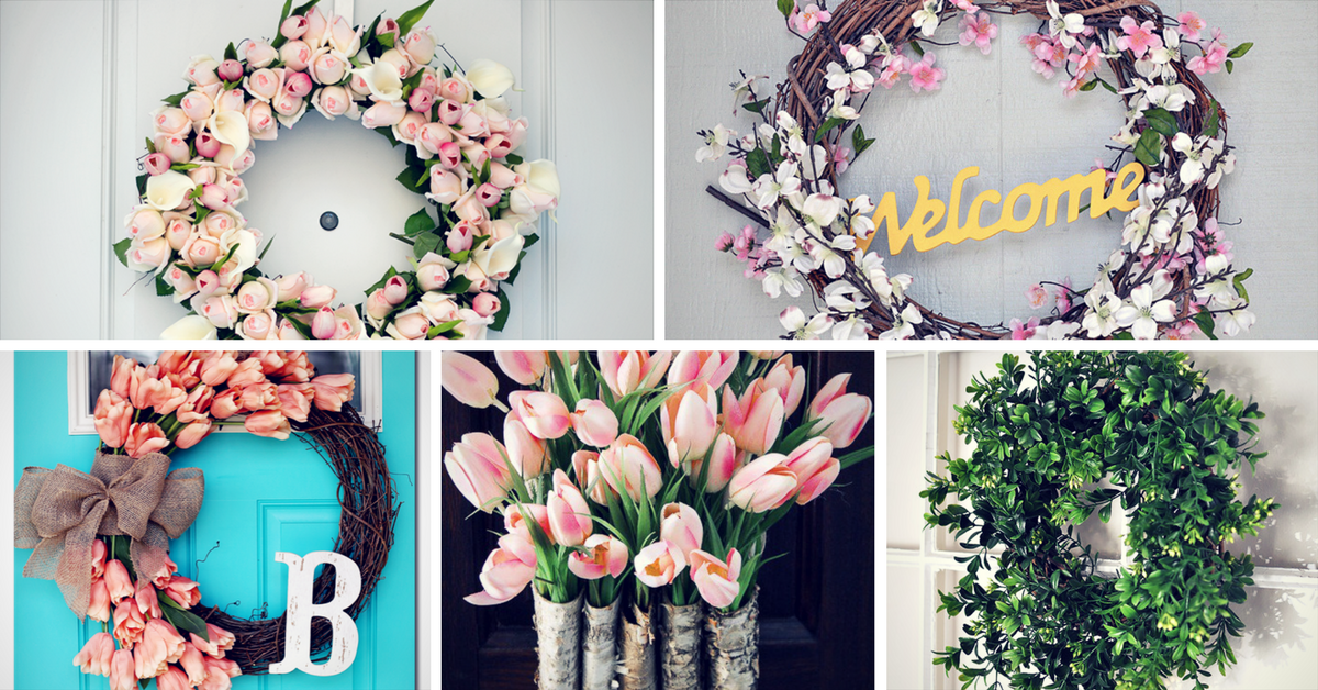Creative DIY Spring Wreath Ideas To Brighten Your Door