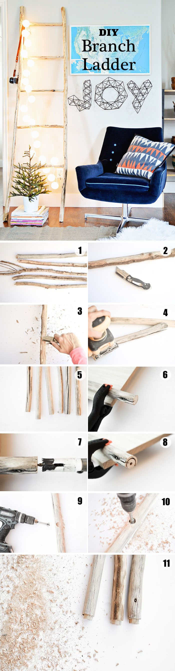 DIY Branch Ladder