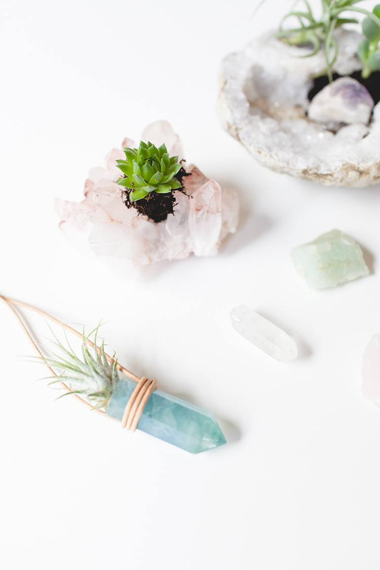 DIY Crystal Planters to Purify Your Home