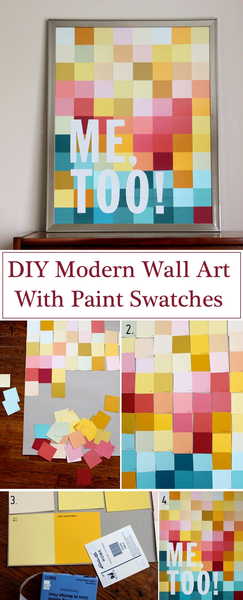 19 simple diy wall art ideas for your home homelovr for Diy contemporary art