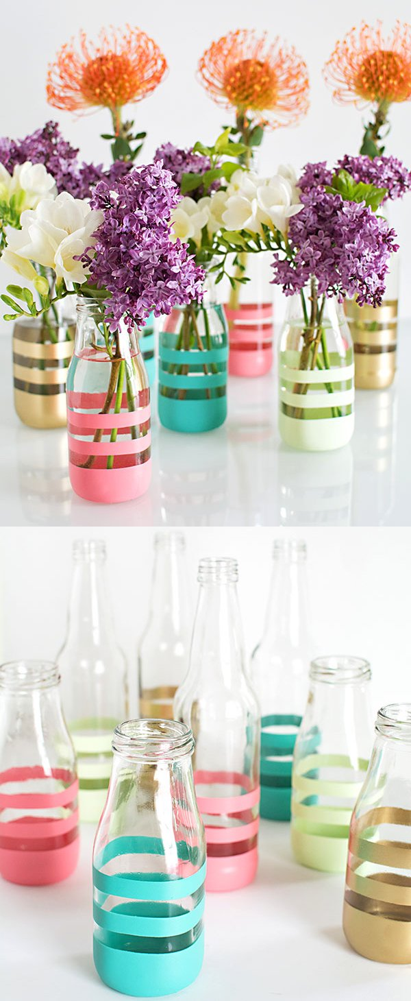 DIY Painted Bottles