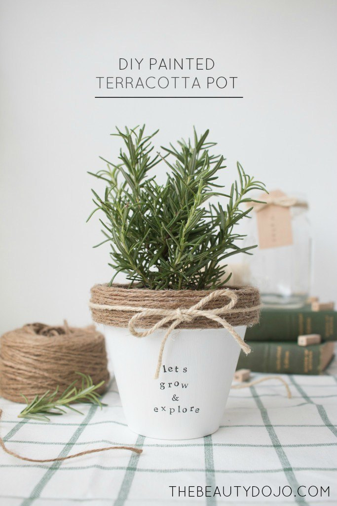 DIY Painted Terra Cotta Pot