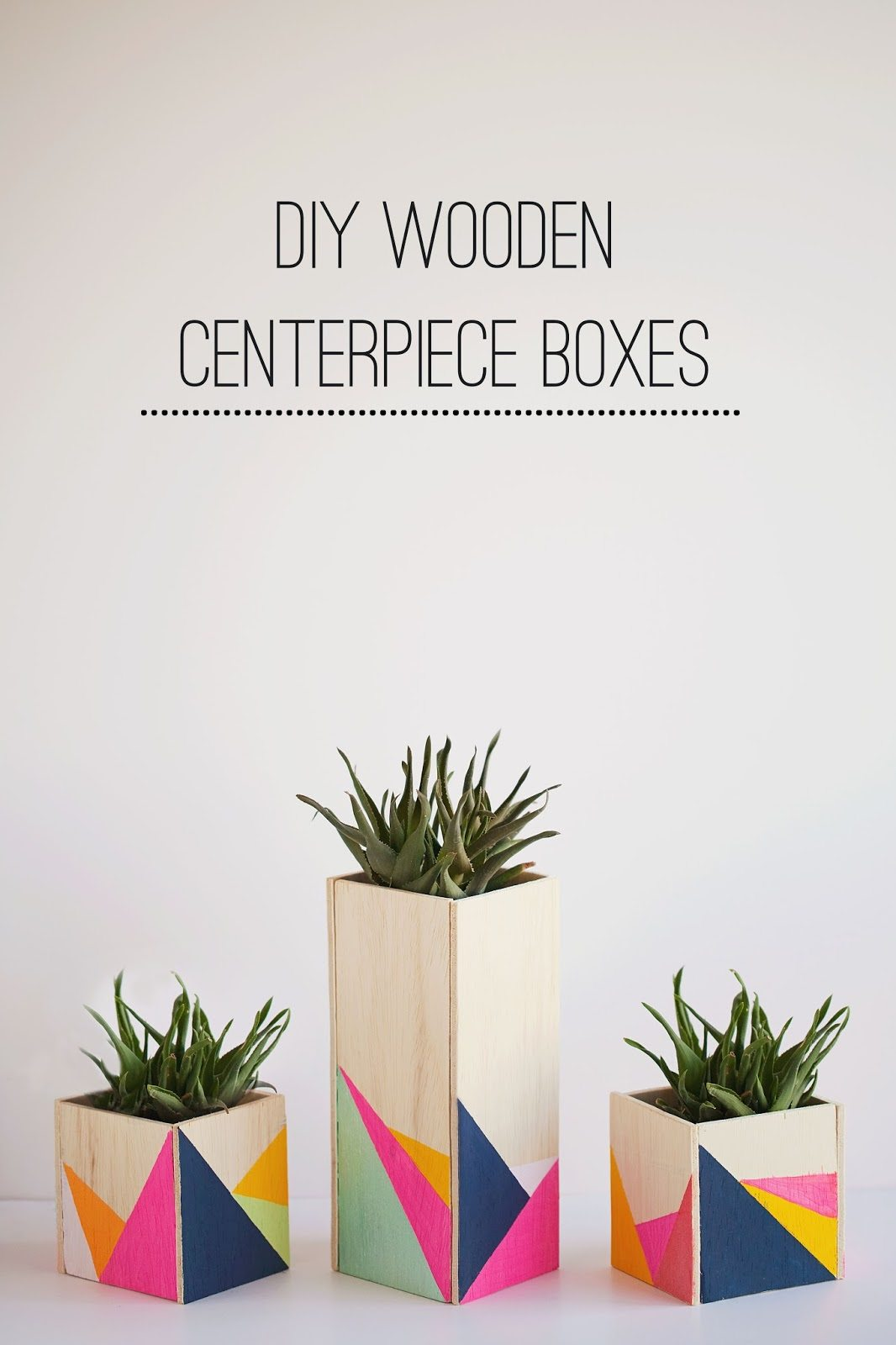 DIY Wooden Centerpieces Boxes