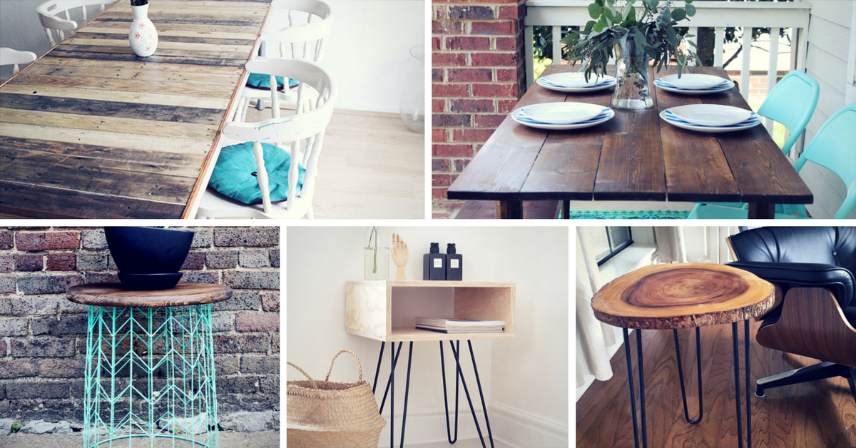 15 Easy DIY Tables You Can Build Yourself