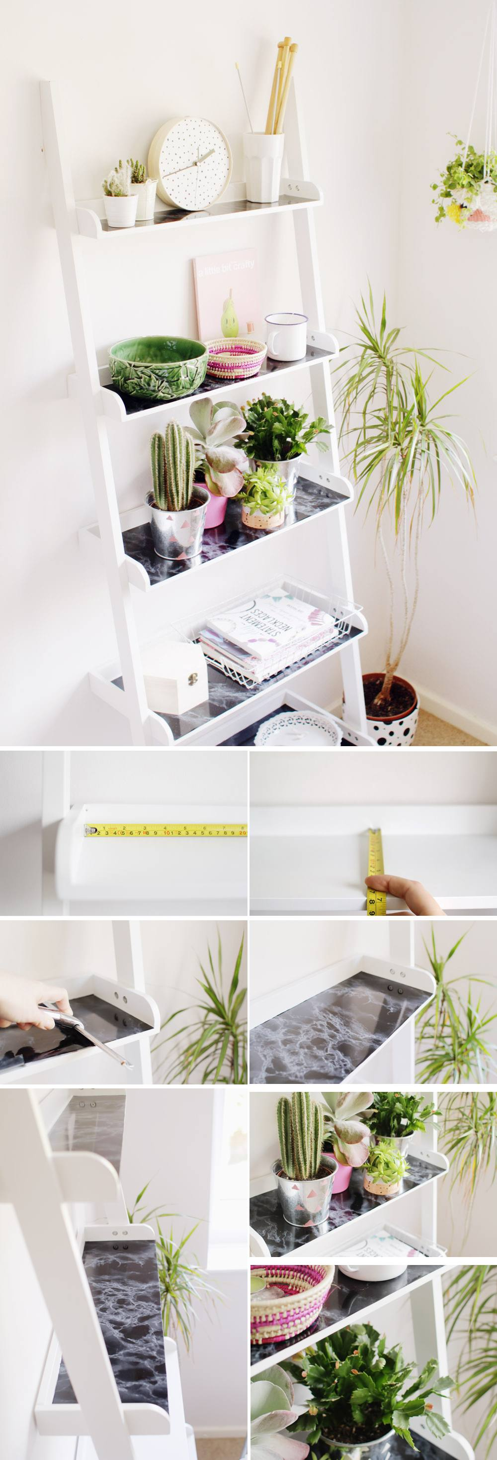 Ladder Shelf Hack